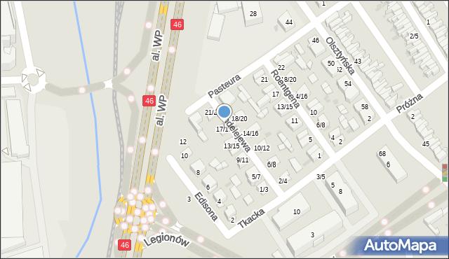 Częstochowa, Mendelejewa Dymitra, 17/19, mapa Częstochowy