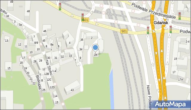 Gdańsk, Menonitów, 2A, mapa Gdańska