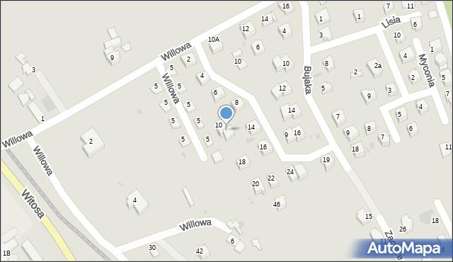 Limanowa, Metalowców, 12, mapa Limanowa