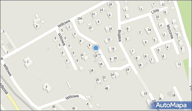 Limanowa, Metalowców, 14, mapa Limanowa