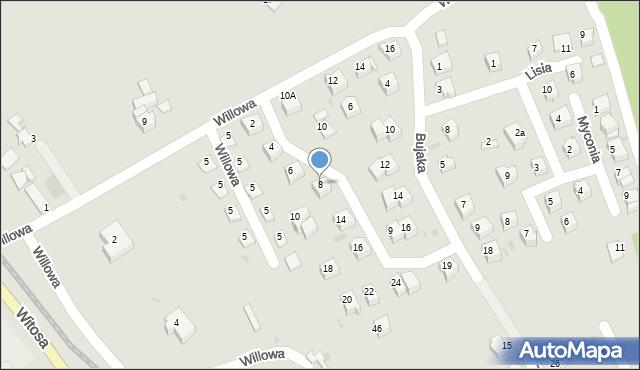 Limanowa, Metalowców, 8, mapa Limanowa