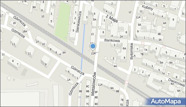 Świętochłowice, Metalowców, 11A, mapa Świętochłowice