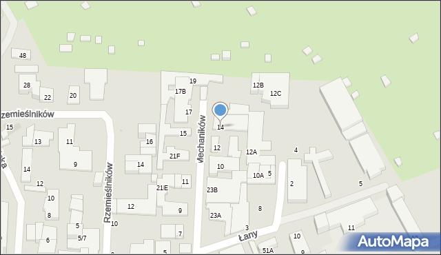 Warszawa, Mechaników, 14, mapa Warszawy