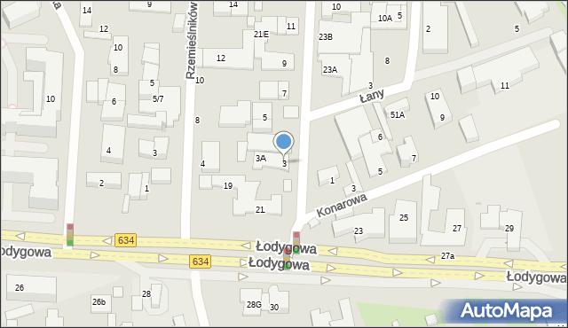 Warszawa, Mechaników, 3, mapa Warszawy