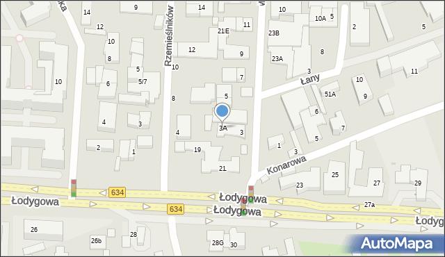 Warszawa, Mechaników, 3A, mapa Warszawy