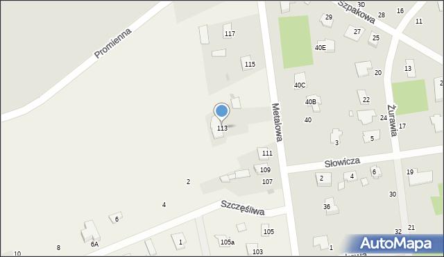 Żółtańce-Kolonia, Metalowa, 113, mapa Żółtańce-Kolonia