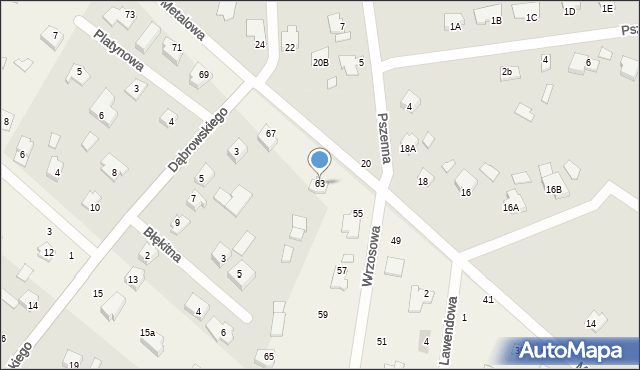 Żółtańce-Kolonia, Metalowa, 63, mapa Żółtańce-Kolonia