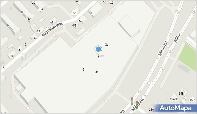 Białystok, Miłosza Czesława, 1, mapa Białegostoku