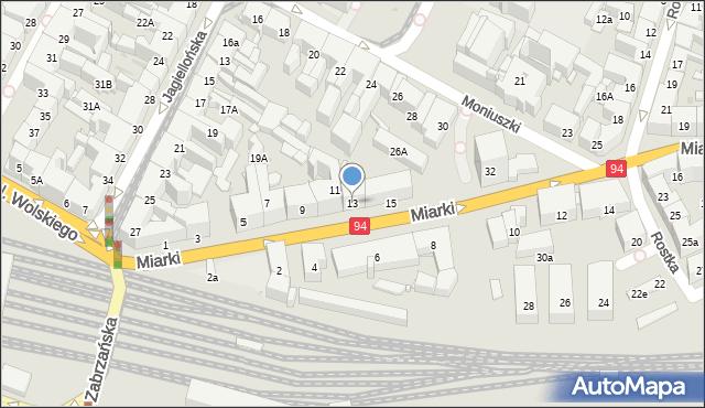 Bytom, Miarki Karola, 13, mapa Bytomia