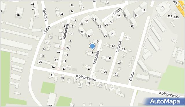 Bytom, Mikołaja, 7, mapa Bytomia