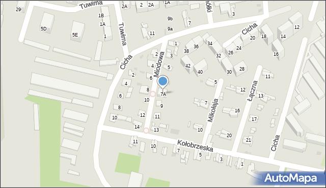 Bytom, Miodowa, 7A, mapa Bytomia