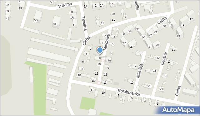 Bytom, Miodowa, 8, mapa Bytomia