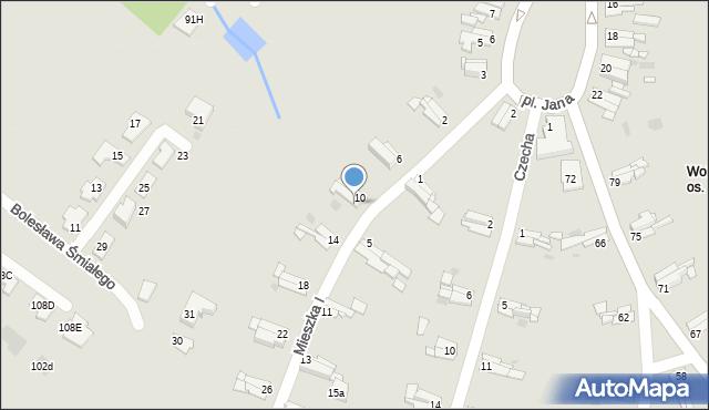 Bytom, Mieszka I, 12, mapa Bytomia