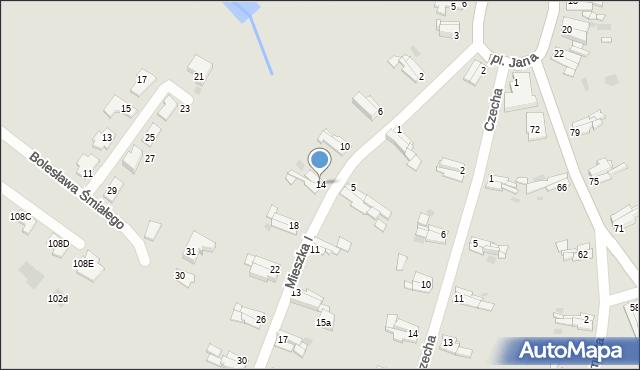 Bytom, Mieszka I, 14, mapa Bytomia