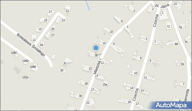Bytom, Mieszka I, 18, mapa Bytomia