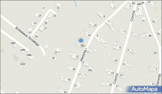 Bytom, Mieszka I, 20, mapa Bytomia