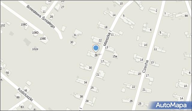 Bytom, Mieszka I, 26, mapa Bytomia