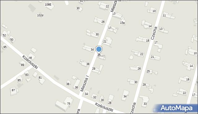 Bytom, Mieszka I, 27, mapa Bytomia