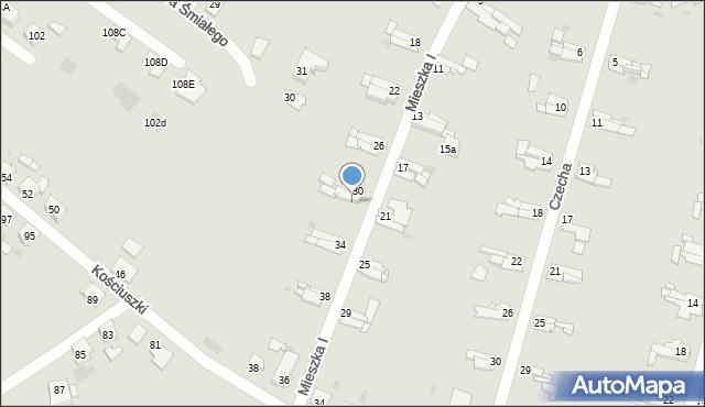 Bytom, Mieszka I, 32, mapa Bytomia