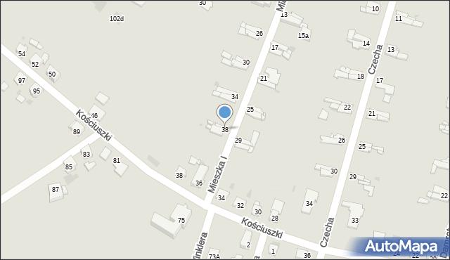 Bytom, Mieszka I, 38, mapa Bytomia