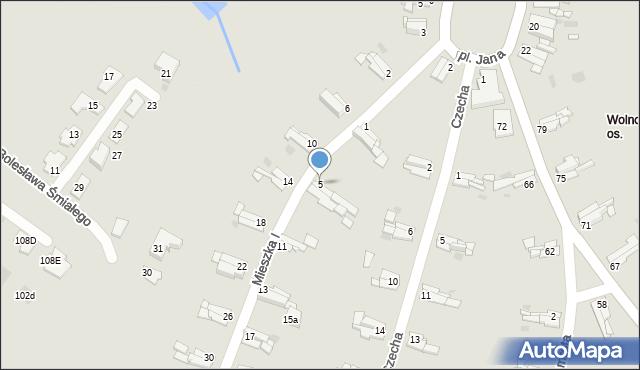 Bytom, Mieszka I, 5, mapa Bytomia
