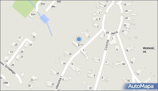 Bytom, Mieszka I, 6, mapa Bytomia