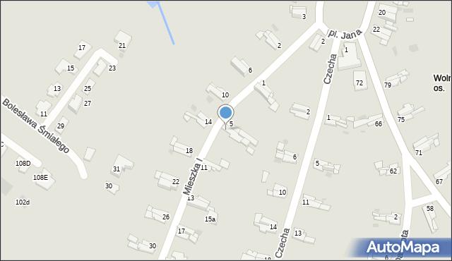 Bytom, Mieszka I, 7, mapa Bytomia