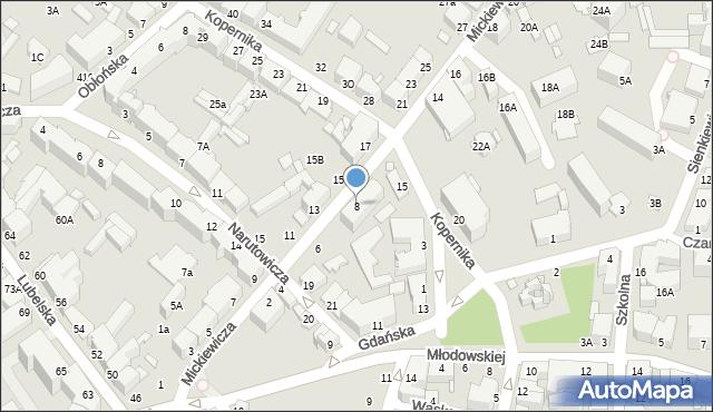 Chełm, Mickiewicza Adama, 8, mapa Chełma
