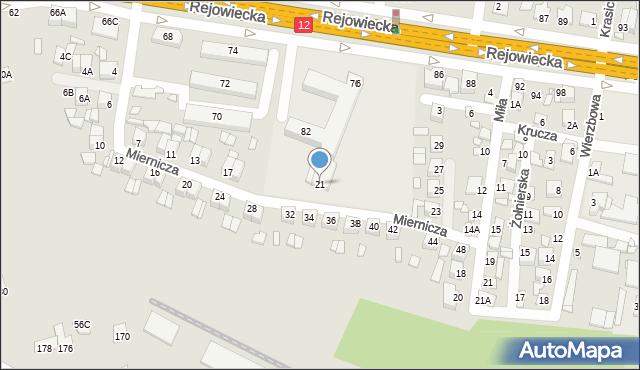 Chełm, Miernicza, 21, mapa Chełma