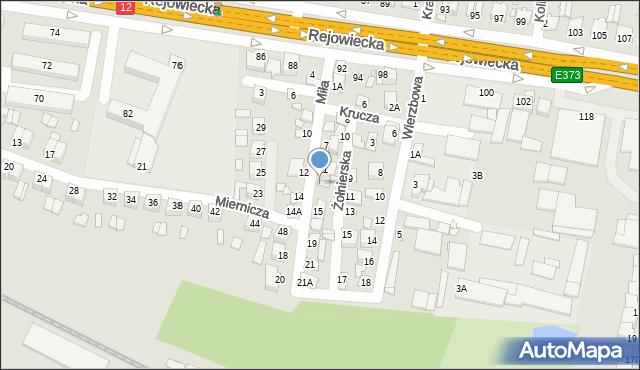 Chełm, Miła, 13, mapa Chełma