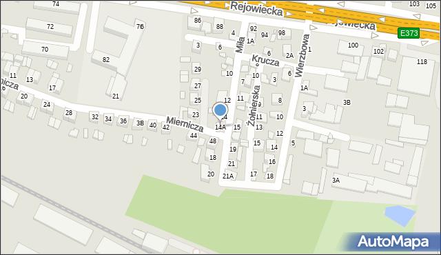Chełm, Miła, 14A, mapa Chełma