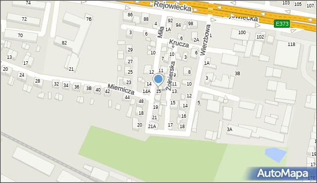 Chełm, Miła, 15, mapa Chełma