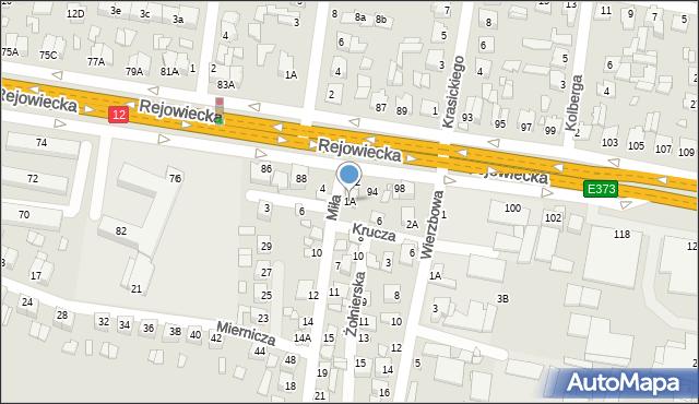 Chełm, Miła, 1A, mapa Chełma