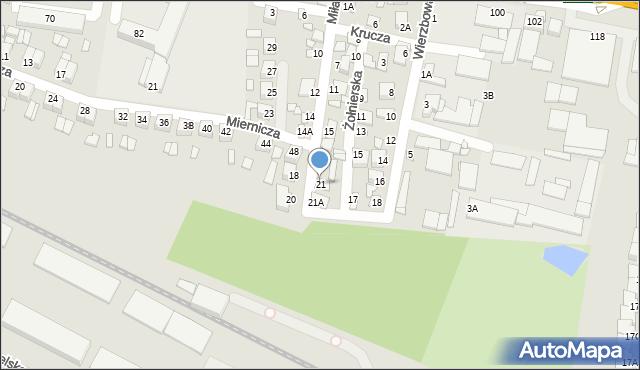 Chełm, Miła, 21, mapa Chełma