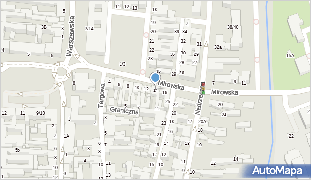 Częstochowa, Mirowska, 14, mapa Częstochowy