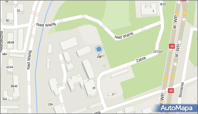 Częstochowa, Mirowska, 15B, mapa Częstochowy