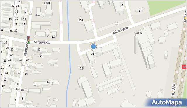 Częstochowa, Mirowska, 26, mapa Częstochowy