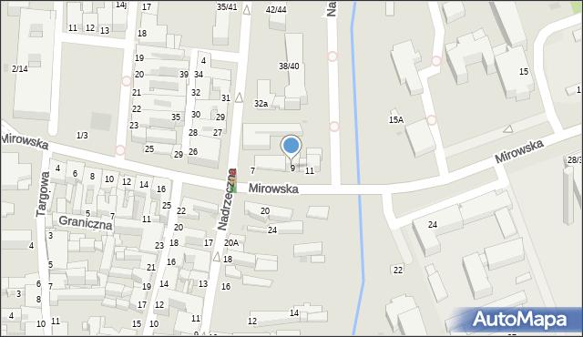 Częstochowa, Mirowska, 9, mapa Częstochowy