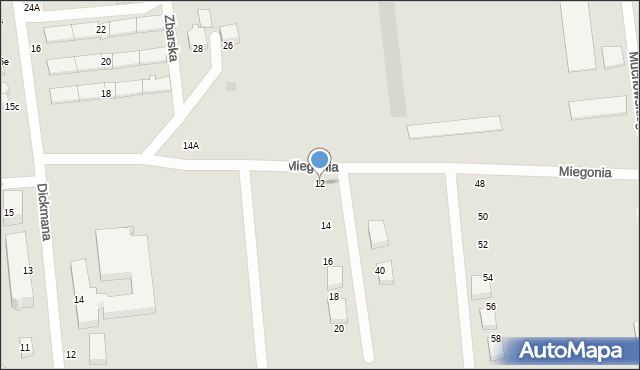 Gdynia, Miegonia Władysława, bł. ks. kmdr. ppor, 12, mapa Gdyni