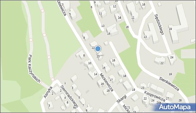 Gdynia, Mickiewicza Adama, 13, mapa Gdyni