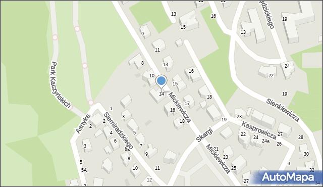 Gdynia, Mickiewicza Adama, 14, mapa Gdyni