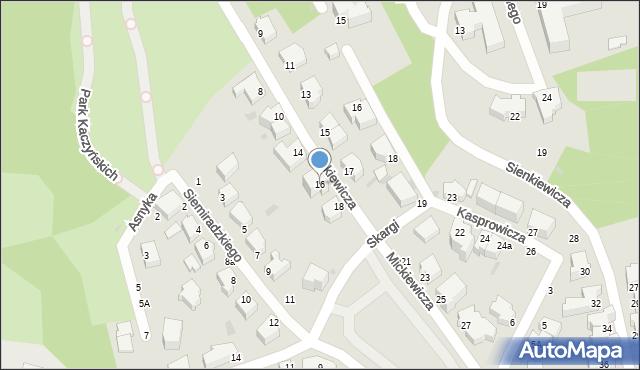 Gdynia, Mickiewicza Adama, 16, mapa Gdyni
