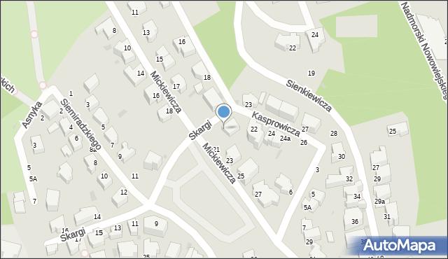 Gdynia, Mickiewicza Adama, 21, mapa Gdyni