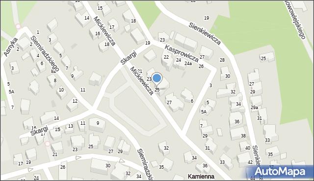 Gdynia, Mickiewicza Adama, 25, mapa Gdyni