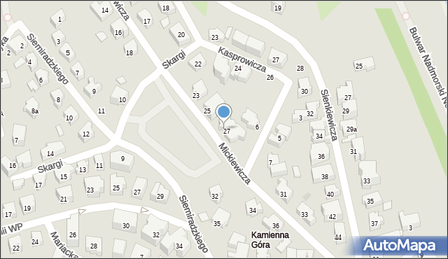Gdynia, Mickiewicza Adama, 27/29, mapa Gdyni