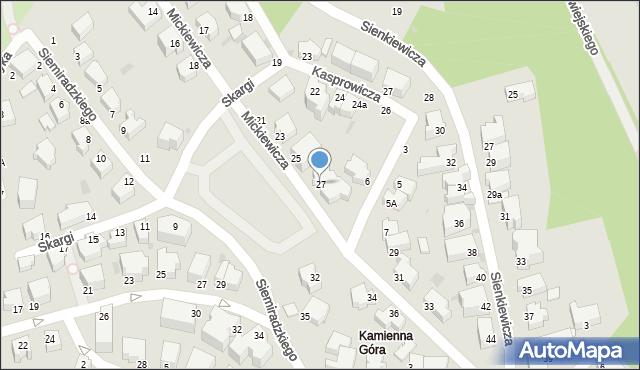 Gdynia, Mickiewicza Adama, 27, mapa Gdyni