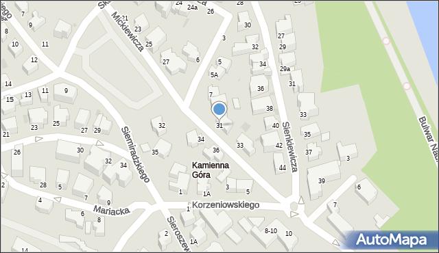 Gdynia, Mickiewicza Adama, 31, mapa Gdyni