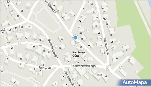 Gdynia, Mickiewicza Adama, 34, mapa Gdyni
