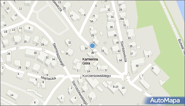 Gdynia, Mickiewicza Adama, 36, mapa Gdyni