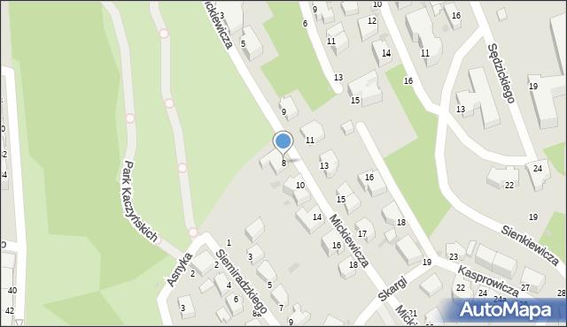 Gdynia, Mickiewicza Adama, 8, mapa Gdyni
